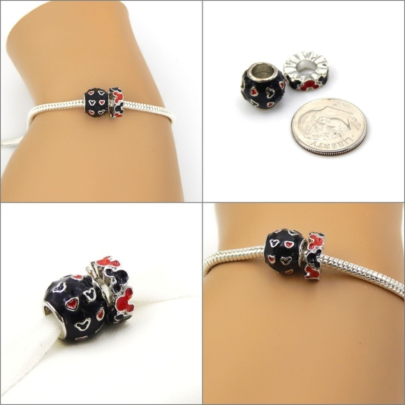 Disney/'s Mickey Mouse Large Key Charm Bead For European Bracelet//Necklace
